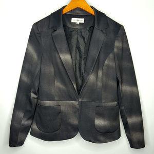 Kate & Rosy Blazer Jacket Sz Large Black & Gray